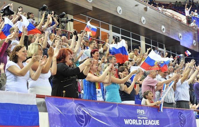 В США не включили гимн России перед матчем Мировой лиги, команда спела его сама