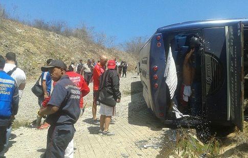В Венесуэле перевернулся автобус с аргентинскими футболистами