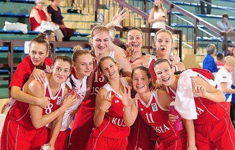 Российские баскетболистки заняли третье место на чемпионате Европы u-18