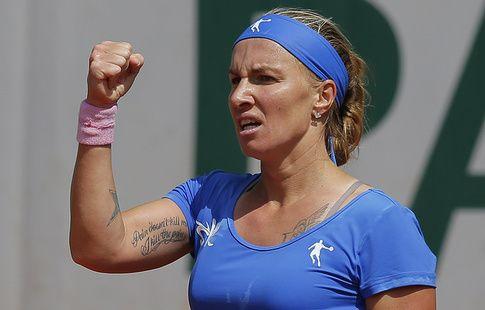 Кузнецова пробилась в четвертьфинал теннисного турнира в Тяньцзине