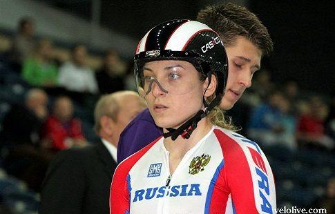 "Шмелёва победила в ""гите"" на чемпионате Европы по велотреку"