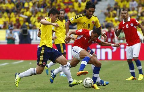 Сборная Колумбии в квалификации ЧМ-2018 сыграла вничью с чилийцами. ВИДЕО