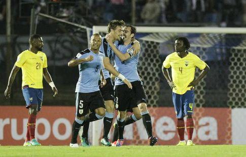 Голы Коатеса и Ролана помогли Уругваю переиграть Эквадор. ВИДЕО