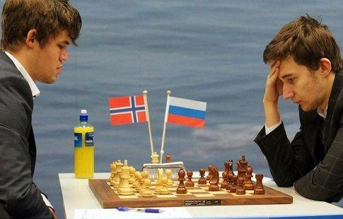 Сергей Карякин сыграл вничью против норвежца Магнуса Карлсена