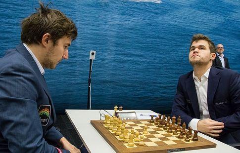 Карякин нанёс поражение Карлсену на ЧМ по блицу