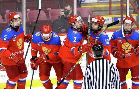 Юниорская сборная России обыграла Канаду в выставочном матче