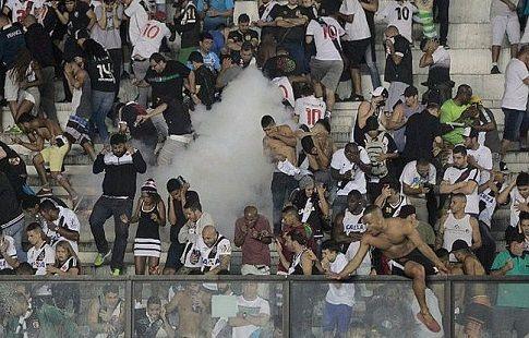 """Васко да Гама"" запретили проводить матчи со зрителями после смерти фаната. ВИДЕО"