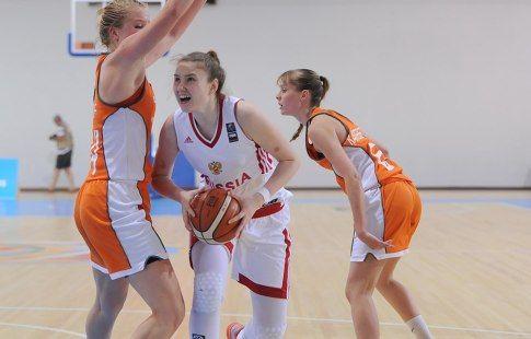 Женская сборная России по баскетболу вышла в полуфинал ЧЕ среди игроков до 20 лет