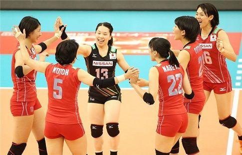 Япония переиграла Сербию в матче Гран-при, уступая 0:2 по сетам