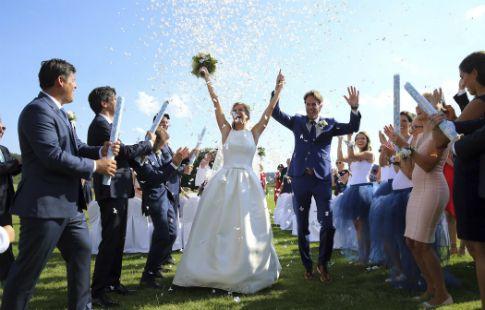 Андреа Главачкова вышла замуж
