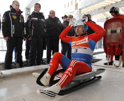 Российские саночники проведут десять тренировок в Пхенчхане на предолимпийской неделе