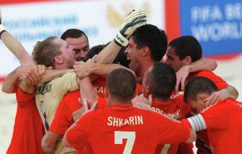 Россияне победили парагвайцев в матче Межконтинентального кубка по пляжному футболу
