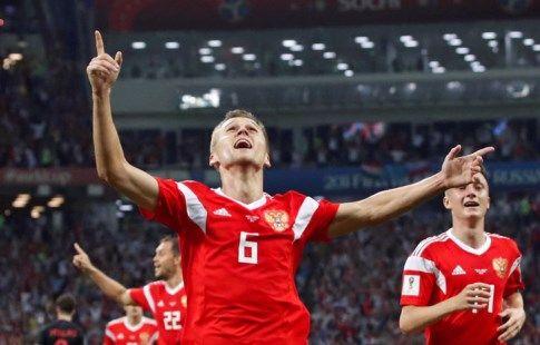 Три гола игроков сборной России претендуют на звание лучшего на ЧМ-2018