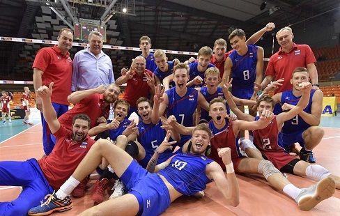 Российские волейболисты вышли в финал чемпионата Европы U-20