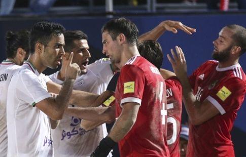 Россия проигрывает Ирану в финале Межконтинентального кубка по пляжному футболу
