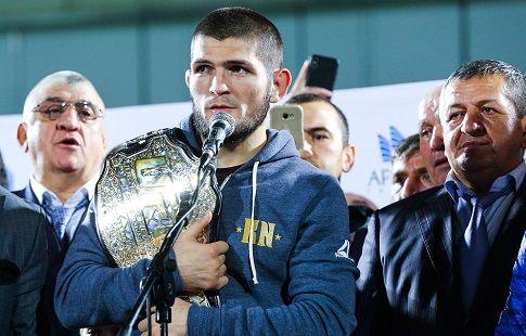 Пояс чемпиона UFC Нурмагомедова будет выставлен на обозрение в пяти российских городах