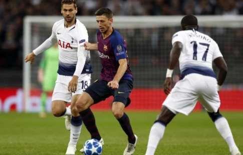 """""""Тоттенхэм"""" вырывает ничью в Барселоне, и выходит в плей-офф Лиги чемпионов"""