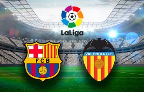 """""""Барселона"""" отыгрывается с 0:2 и играет вничью с """"Валенсией"""""""