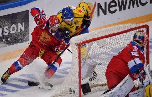 Хоккей, Шведские игры, Россия - Швеция, прямая текстовая онлайн трансляция
