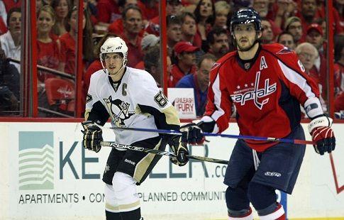 Кросби вышел на 46-е место в истории НХЛ по количеству очков, Овечкин — на 48-е