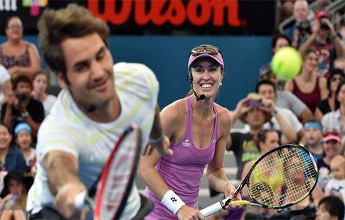 Хингис считает Федерера самым талантливым теннисистом