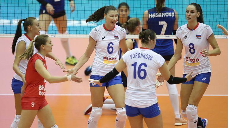 Российские волейболистки показали свои эмоции после победы над Южной Кореей