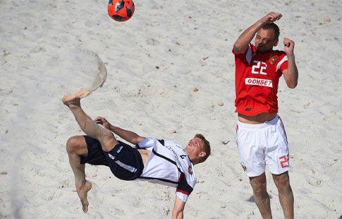 Пляжный футбол. Россия - Белоруссия: прямая видеотрансляция матча группового этапа Суперфинала Евролиги