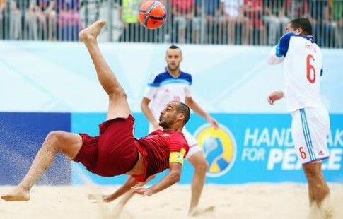 Россия разнесла Швейцарию в Суперфинале Евролиги по пляжному футболу