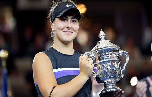 Обладательница US Open Андрееску - лучшая теннисистка по итогам августа