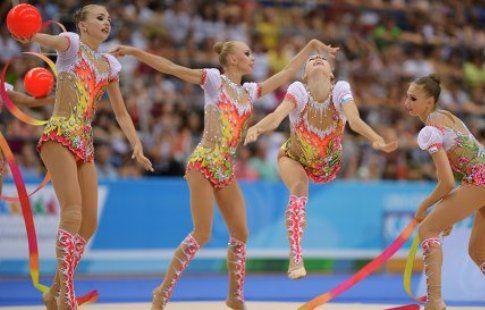 Российские гимнастки завоевали золото в групповых упражнениях на ЧМ