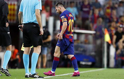 """""""Барселона"""" может потерять Месси на 4 недели"""