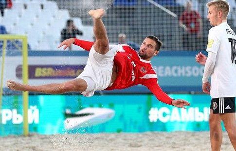 Россия одержала волевую победу над Белоруссией и вышла в четвертьфинал чемпионата мира по пляжному футболу