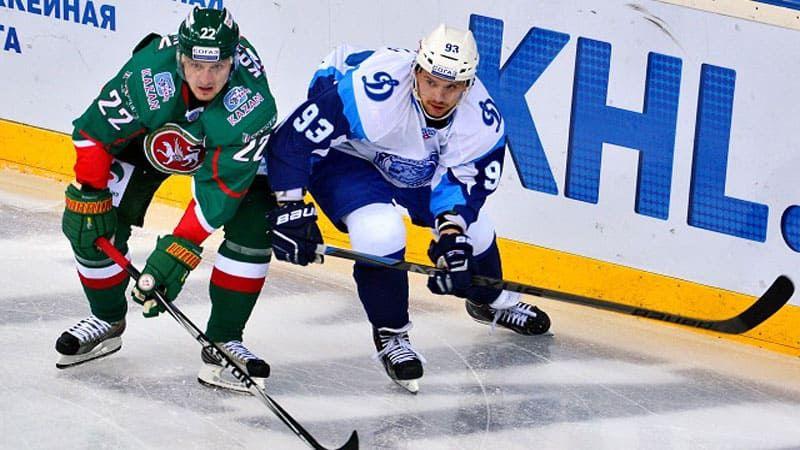 Хоккей, КХЛ, Динамо М - Ак Барс, Прямая текстовая онлайн трансляция
