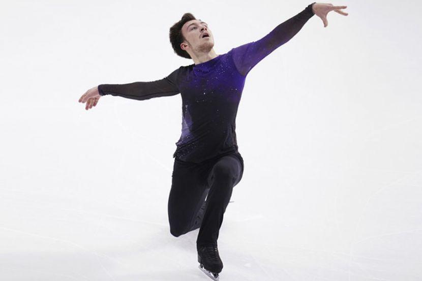 Фигурист Алиев чисто исполнил два четверных прыжка на тренировке. ВИДЕО