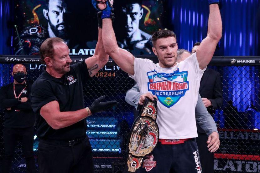 """Немков после завоевания титула Bellator: """"Не так страшен этот Бейдер"""""""