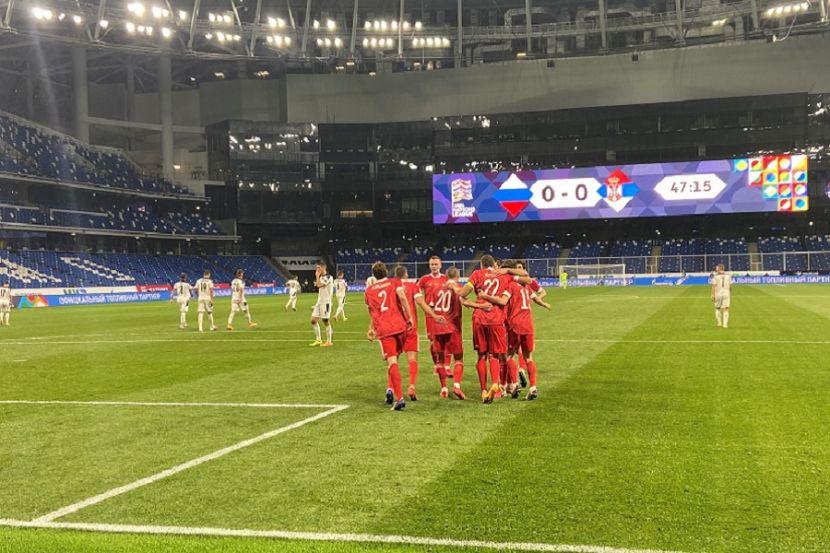 Как Россия победила Сербию в первом матче Лиги наций. ВИДЕО
