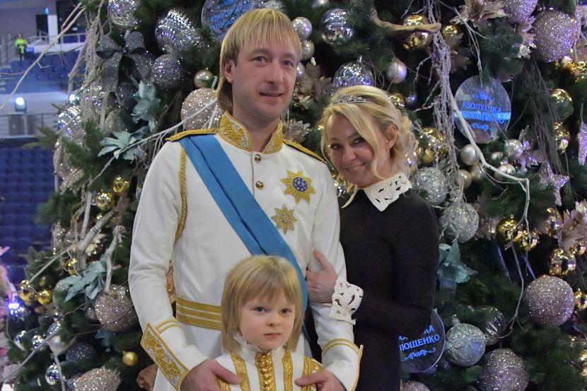 Евгений Плющенко, Яна Рудковская и Александр Плющенко